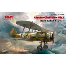 ICM Models 1/32 Gloster Gladiator Mk.I British Fighter Plastic Model Kit