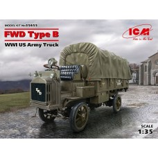 ICM 1:35 WWI US FWD Type B Army Truck Plastic Model Kit