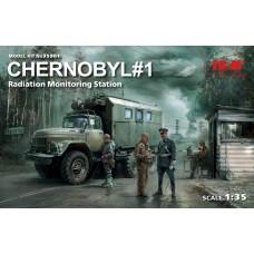 ICM 1:35 Chernobyl #1: Radiation Monitoring Station Diorama Plastic Model Kit
