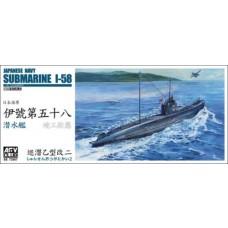 AFV Club 1/350 WWII I-58 Sub Plastic Model Kit