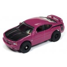 Auto World HO Slot Car 2006 Dodge Charger SRT8 Super Bee Purple