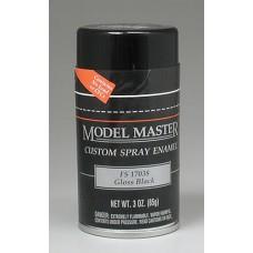 Testors Gloss Black 3oz Enamel Spray FS17038