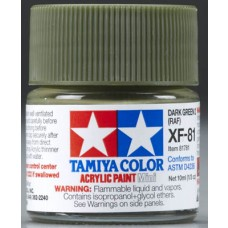 XF81 Dark Green Acrylic Model Paint