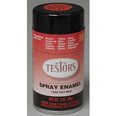 Testors Flat Red Enamel Spray Paint 3oz