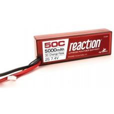 Reaction 7.4v 5000mAh 2S 50C Hardcase LiPo Deans
