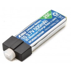 500mAh 1S 3.7V 25C LiPo High Current UMX Connector