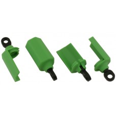 Green Shock Guards Traxxas