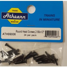 Round Head Screw 2-56 x 1:2 (