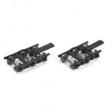HO 6-Wheel (Black) Passenger Trucks w/ 36 Metal Wheels (1 Pair)