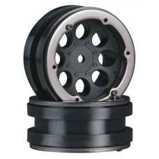 "Axial 1.9"" 8 Hole Beadlock Wheel Black (2)"