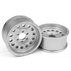 "Incision Method 1.9"" MR307 Wheels Silver (2)"