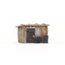 N Scale Built Up Tin Shack Building