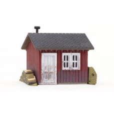 N Scale Built Up Work Shed Building