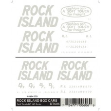 Rock Island Box Cars Dry Transfer Decals DT606