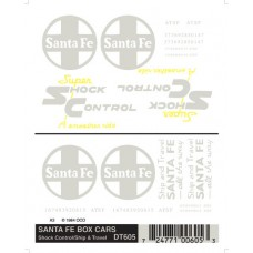 Santa Fe Box Cars Dry Transfer Decals DT605