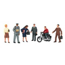 Bachmann O Scale City People w/Motorcycle Figures