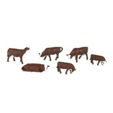 Bachmann O Scale Brown & White Cow Figures