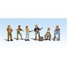 Woodland Scenics O Scale Jug Band Figures A2743
