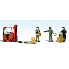 Woodland Scenics O Scale Workers with Forklift A2744