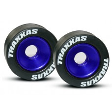 Blue Aluminum Wheelie Bar Wheels (2)