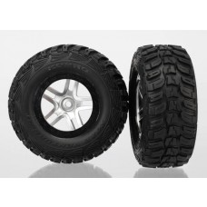 SCT Black Beadlock Wheels and Tires (2)