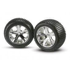 Traxxas Rear Chrome Wheel and Alias Tire (2)