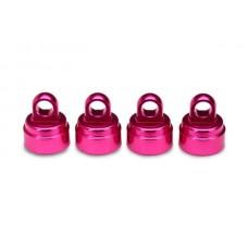 Pink Aluminum Shock Caps (4)
