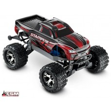 Traxxas 1/10 Stampede 4x4 VXL w/Self-Righting Red