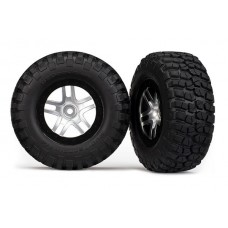 Traxxas SCT Black Beadlock Wheels and Tires (2) 6873
