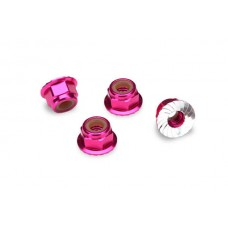 Traxxas 4mm Pink Aluminum Wheel Lock Nuts