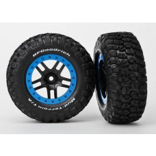 SCT Blue Beadlock Wheels & Tires (2)