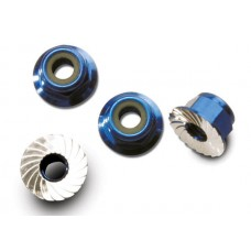 Traxxas 4mm Blue Aluminum Wheel Lock Nuts