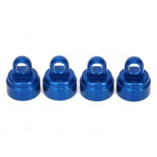 Blue Aluminum Shock Caps (4)