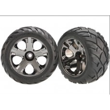 Front Black Chrome Wheels and Anaconda Tires (2)