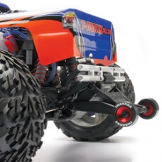 Red Aluminum Wheelie Bar Wheels (2)