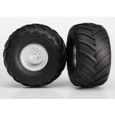 Terra Groove Dual Profile Tires Mounted Rear 2wd