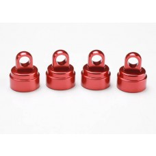 Red Aluminum Shock Caps (4)