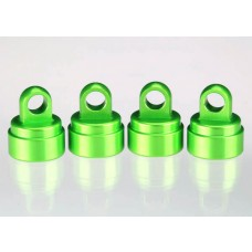 Green Aluminum Shock Caps (4)