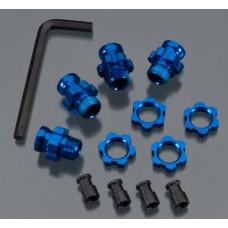 Blue Aluminum 17mm Wheel Hex Kit