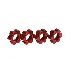 Traxxas X-Maxx Red Aluminum Wheel Hex Hubs (4) 7756R