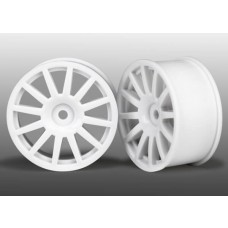 White 12 Spoke Wheels (2) LaTrax Rally