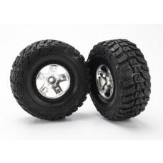 SCT Black Beadlock Wheels & Kumho Tires (2)