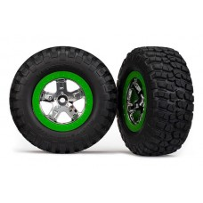 SCT Green Beadlock Wheels and Tires (2)