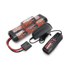 Traxxas 3000mAh 8.4v NiMh Hump Battery & AC Peak Charger