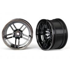 1.9 Rear Split Spoke Black Chrome Wheels