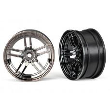 1.9 Front Split Spoke Black Chrome Wheels
