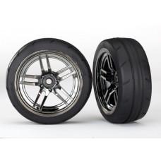 1.9 Response Tires & Front Split Spoke Black Chrome Wheels