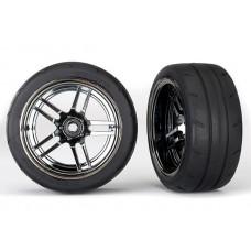 1.9 Response Tires & Rear Split Spoke Black Chrome Wheels