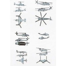 1/350 US Marines Air Group Aircraft/Heli Set