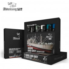 Naval and Grey Effects Modeling Oil Paint Set